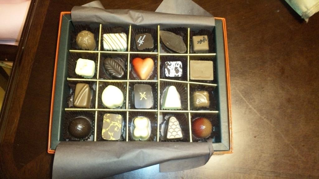 嫁にもチョコをもらいました。